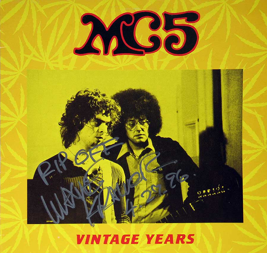 High Resolution #1 Photo MC5 Vintage Years with Rob Tyner