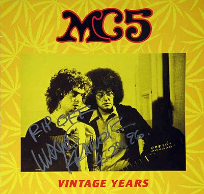 "Thumbnail of MC5 - Vintage Years with Rob Tyner Band Signed 12"" Vinyl LP Album album front cover"