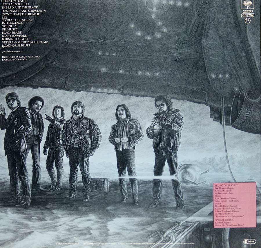 BLUE OYSTER CULT - Extraterrestrial Live 2LP Vinyl Album  back cover