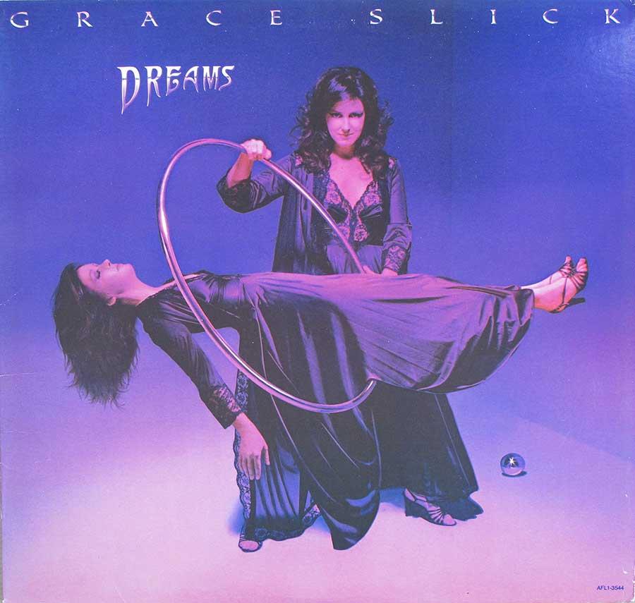 "GRACE SLICK - Dreams ex-Jefferson Airplane Lyrics Sleeve Original USA 12"" Lp Vinyl Album front cover https://vinyl-records.nl"