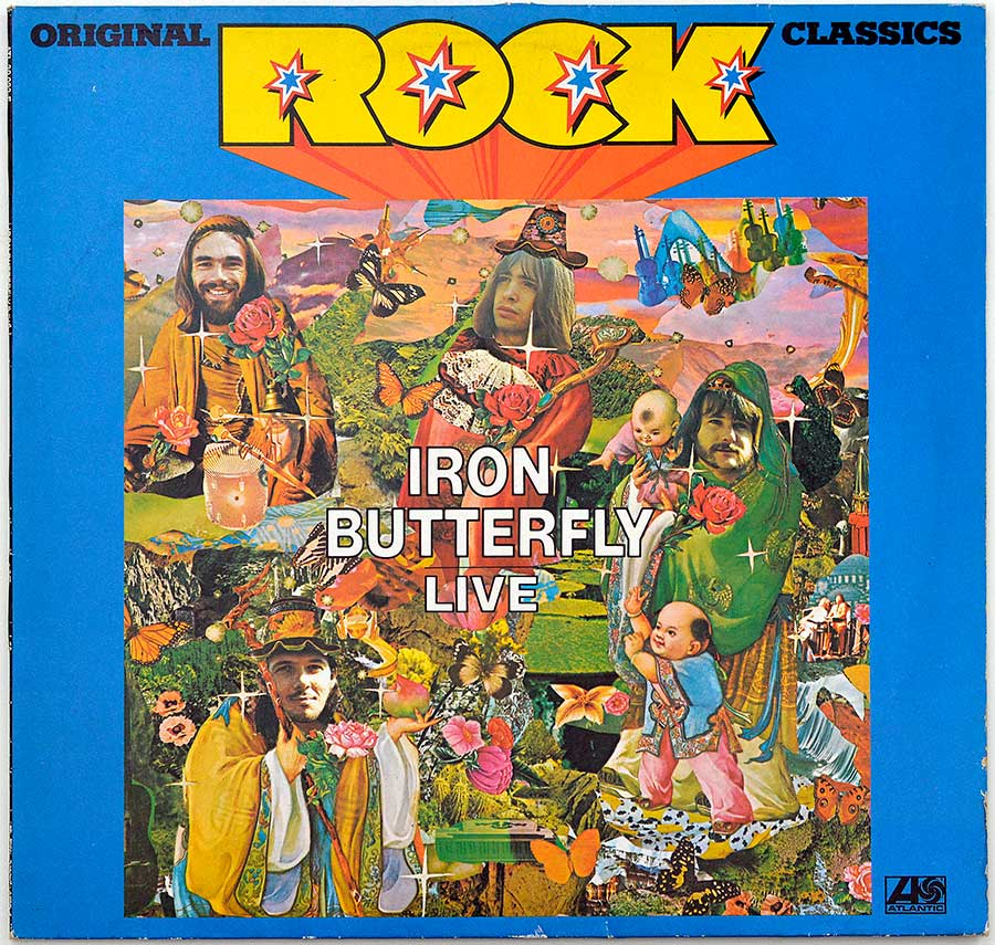 Front Cover Photo Of IRON BUTTERFLY - Live (Rock Classics)