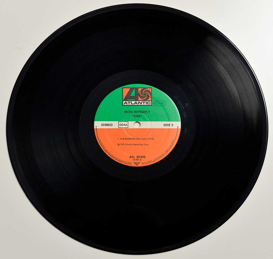 Photo of LP Side B IRON BUTTERFLY - Live (Rock Classics)