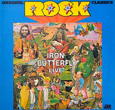 "Thumbnail Of  IRON BUTTERFLY - Live (Rock Classics) 12"" Vinyl LP album front cover"