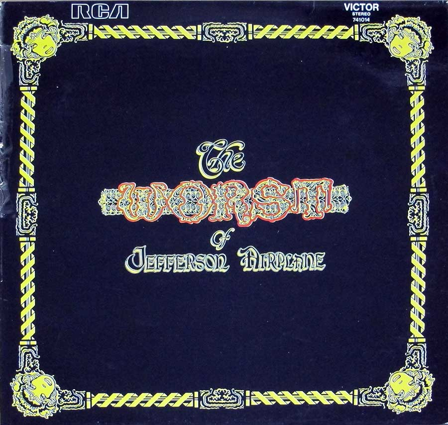 "JEFFERSON AIRPLANE - Worst Of Jefferson Airplane 12"" LP VINYL ALBUM  front cover https://vinyl-records.nl"
