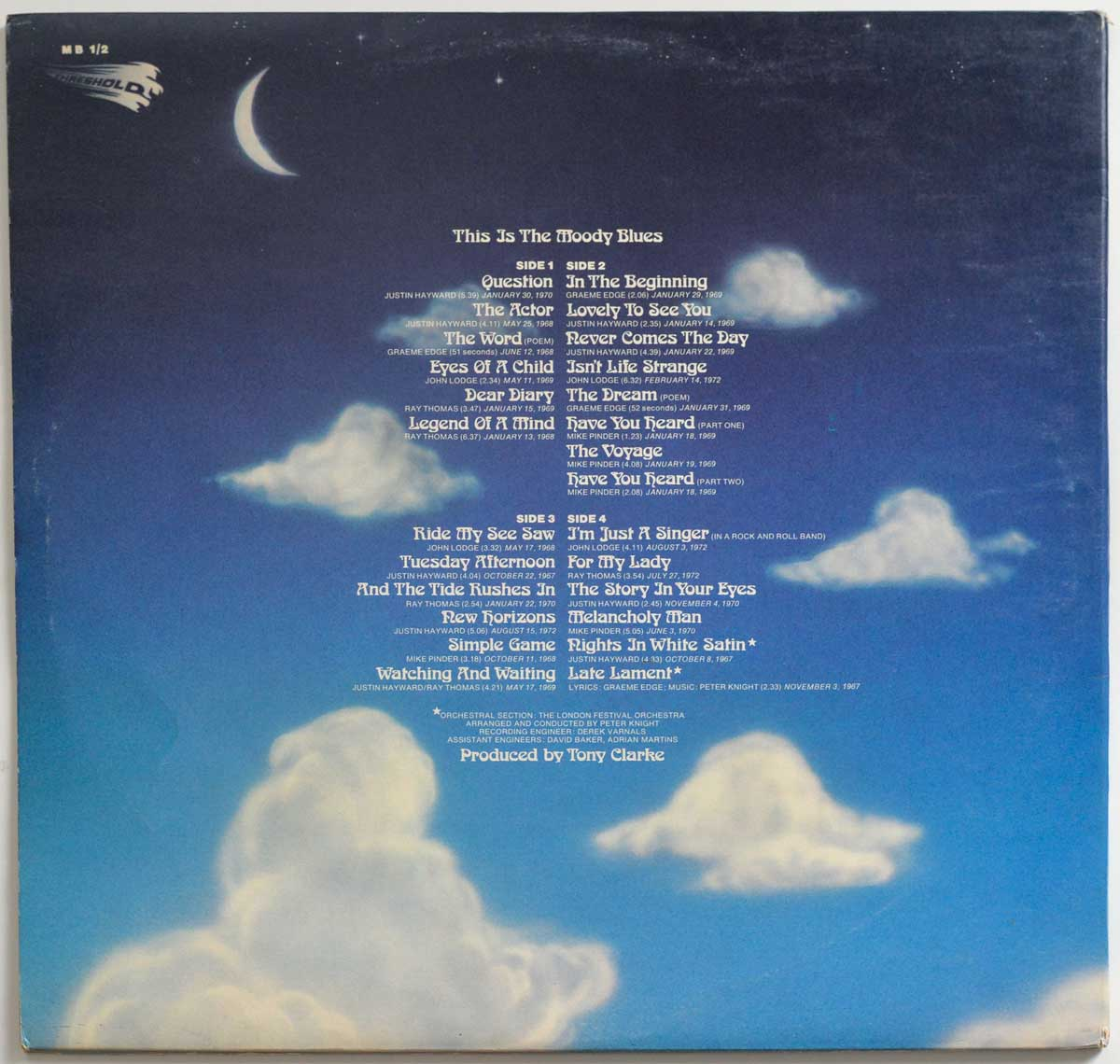 High Resolution Photo #2 Moody Blues – This Is The Moody Blues Vinyl Record