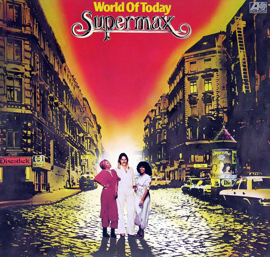 "Front Cover Photo Of SUPERMAX - World of Today 12"" Vinyl LP Album"