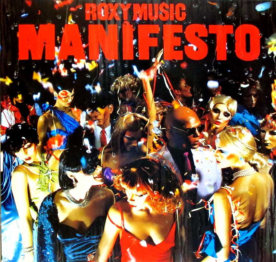 "Roxy Music - MANIFESTO - pop-rock FRANCE release 12"" LP VINYL ALBUM album front cover"