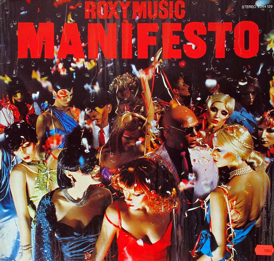 "ROXY MUSIC - Manifesto - German release 12"" LP Vinyl Album album front cover"