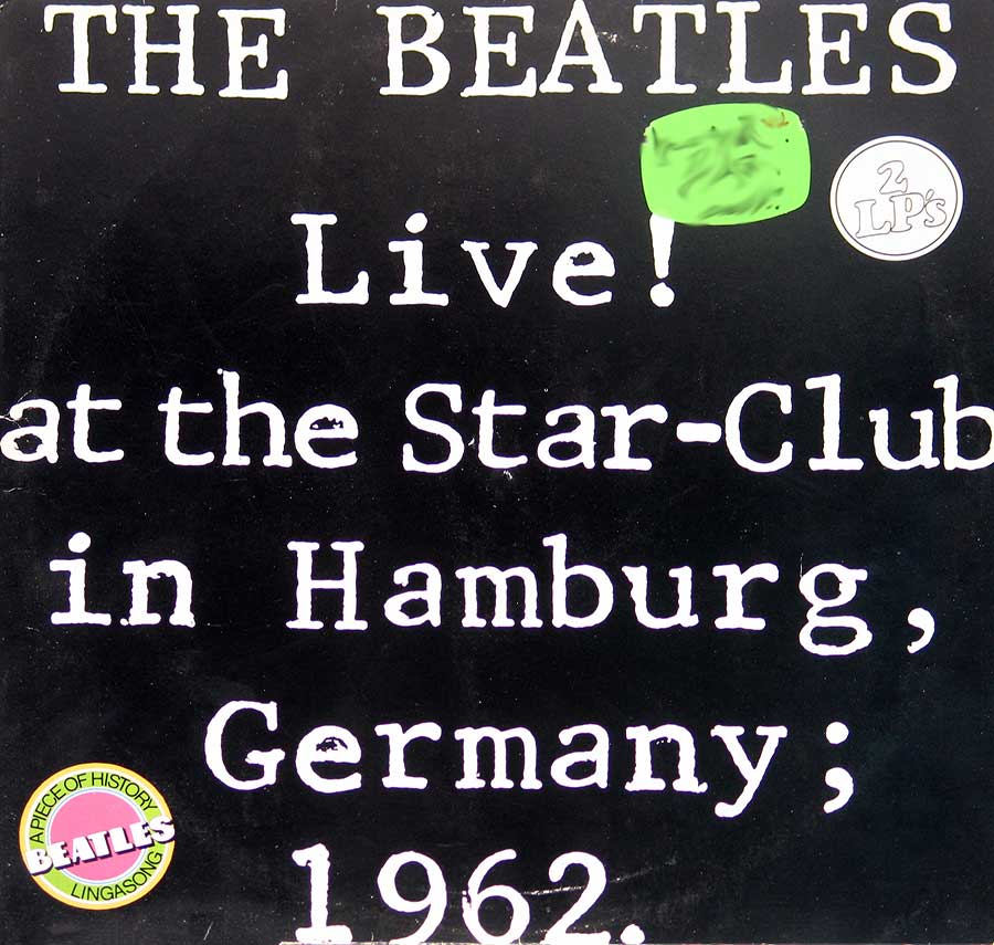 "Front Cover Photo Of BEATLES - Live At The Star-Club in Hamburg 1962 12"" VInyl LP Album"