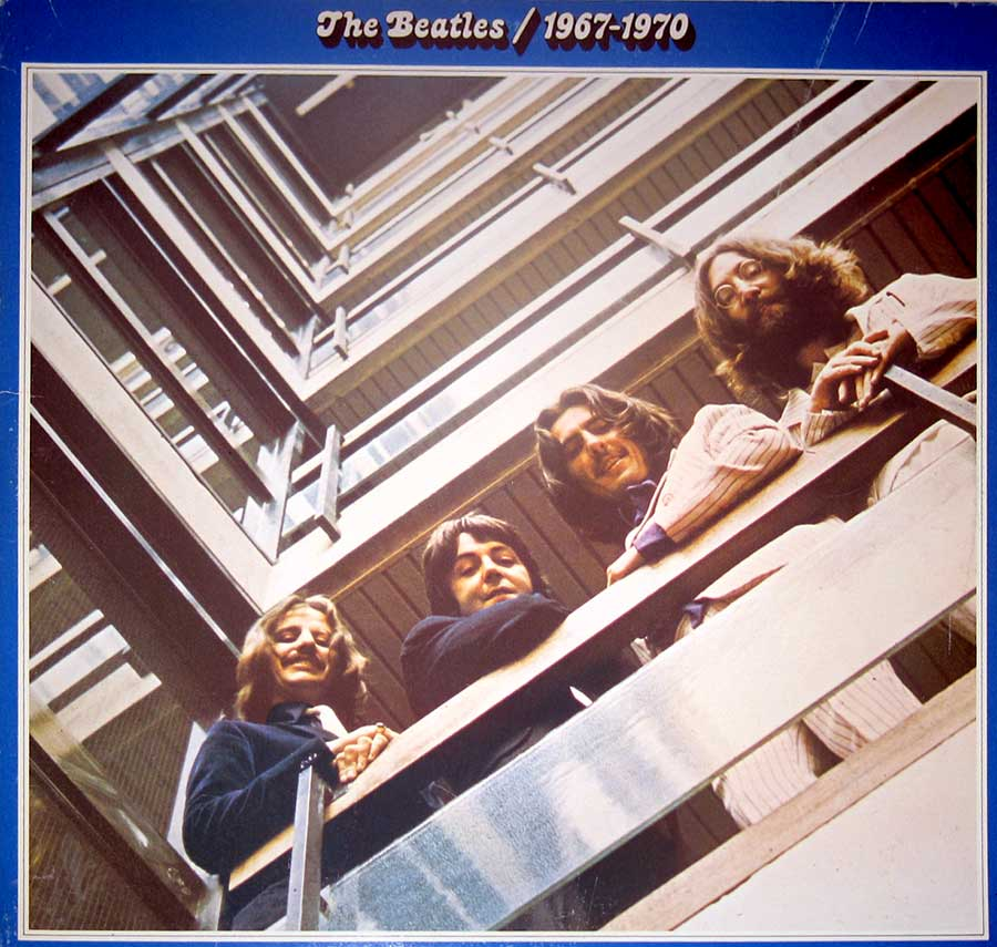 "Front Cover Photo Of BEATLES 1967-1970 Blue Cover Canada 12"" VINYL LP ALBUM"