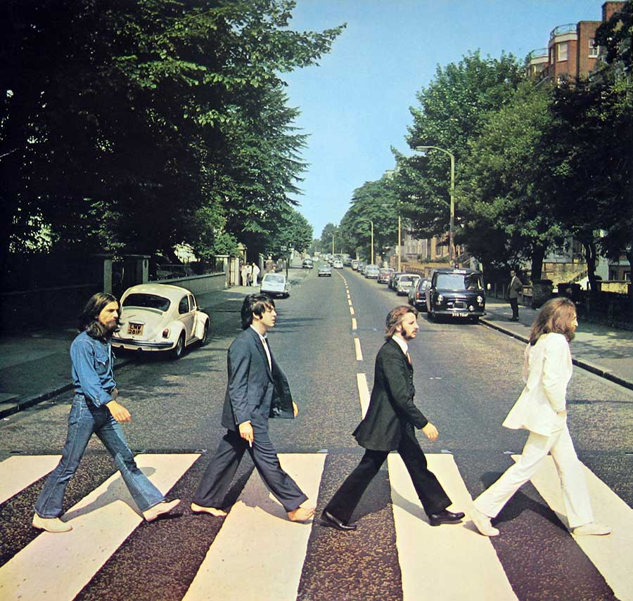 "High Quality Photo of Album Front Cover  ""BEATLES Abbey Road Capitol Records"""