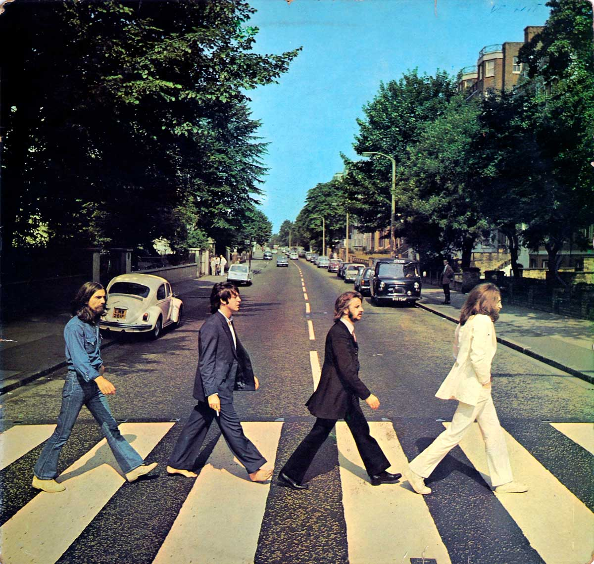 large photo of the album front cover of: Abbey Road by the Beatles