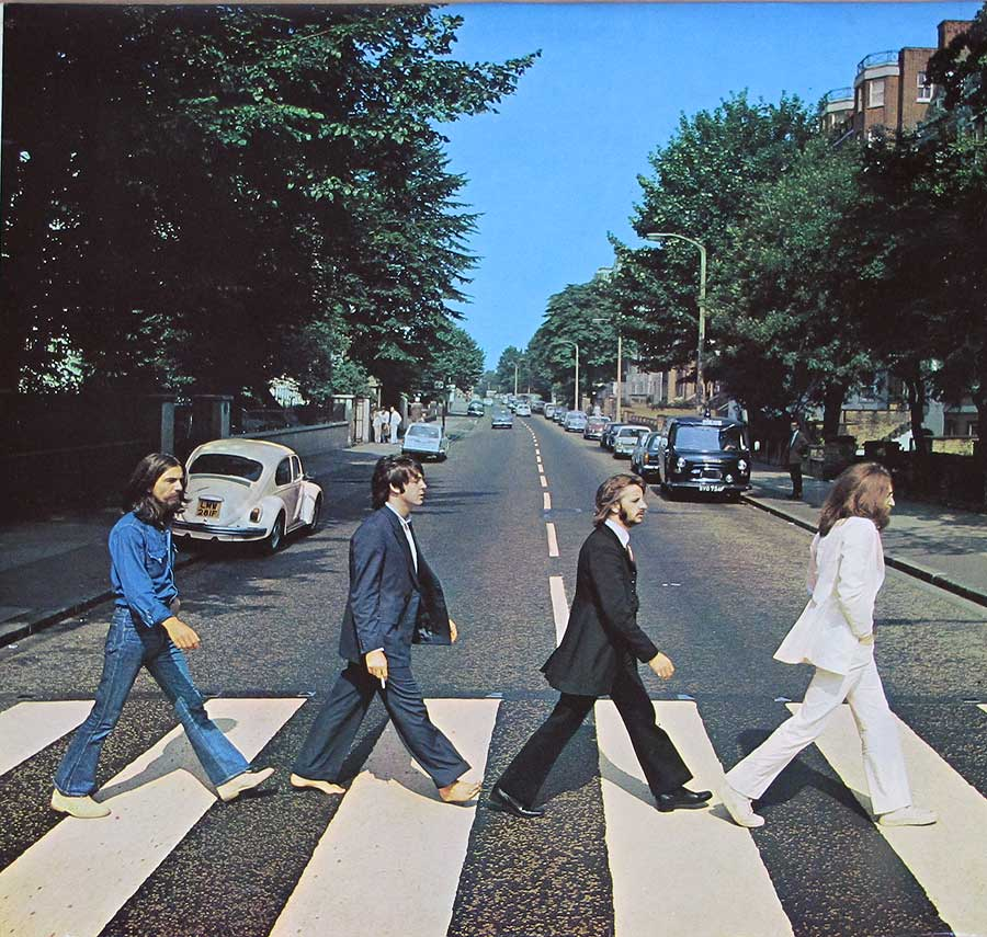 "High Quality Photo of Album Front Cover  ""BEATLES - Abbey Road Original UK misaligned Apple PC 7088"""