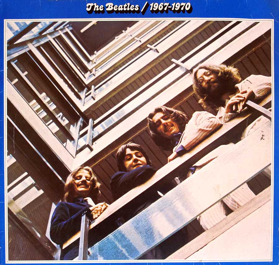 "High Quality Photo of Album Front Cover  "" BEATLES - 1967-1970 (Blue Album Cover) Gatefold"""
