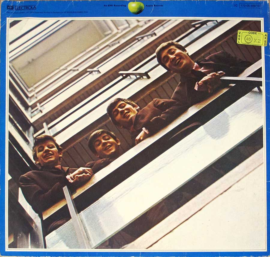 "Album Back Cover  Photo of "" BEATLES - 1967-1970 (Blue Album Cover) Gatefold"""