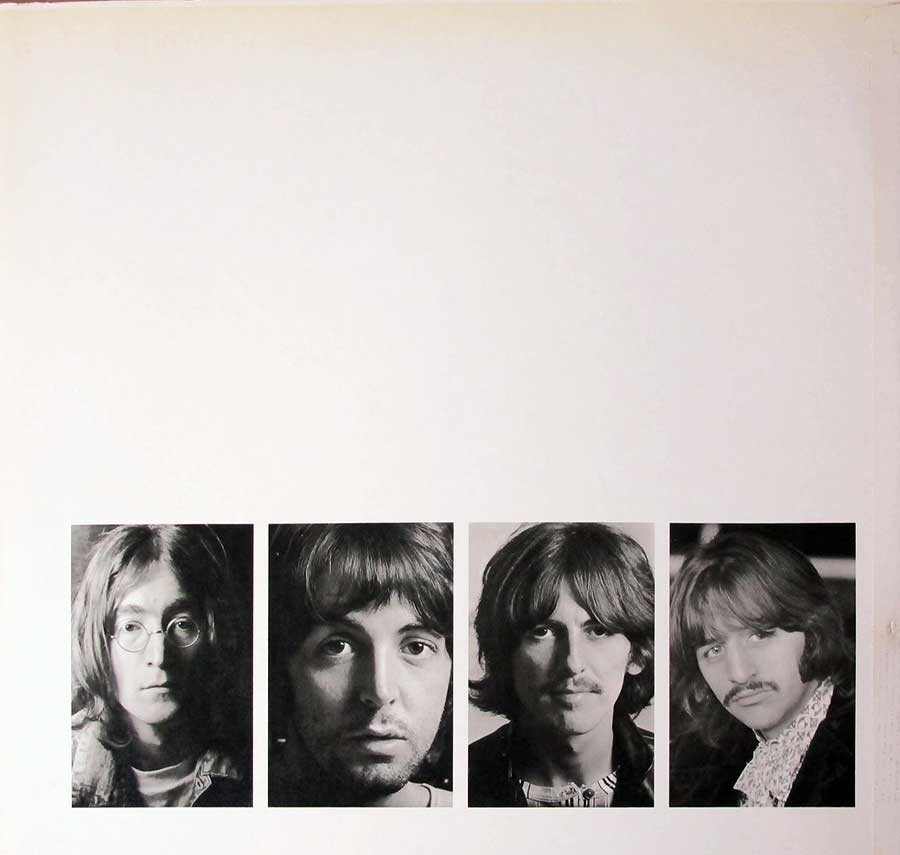 Photo of the right page inside cover The Beatles - White Album