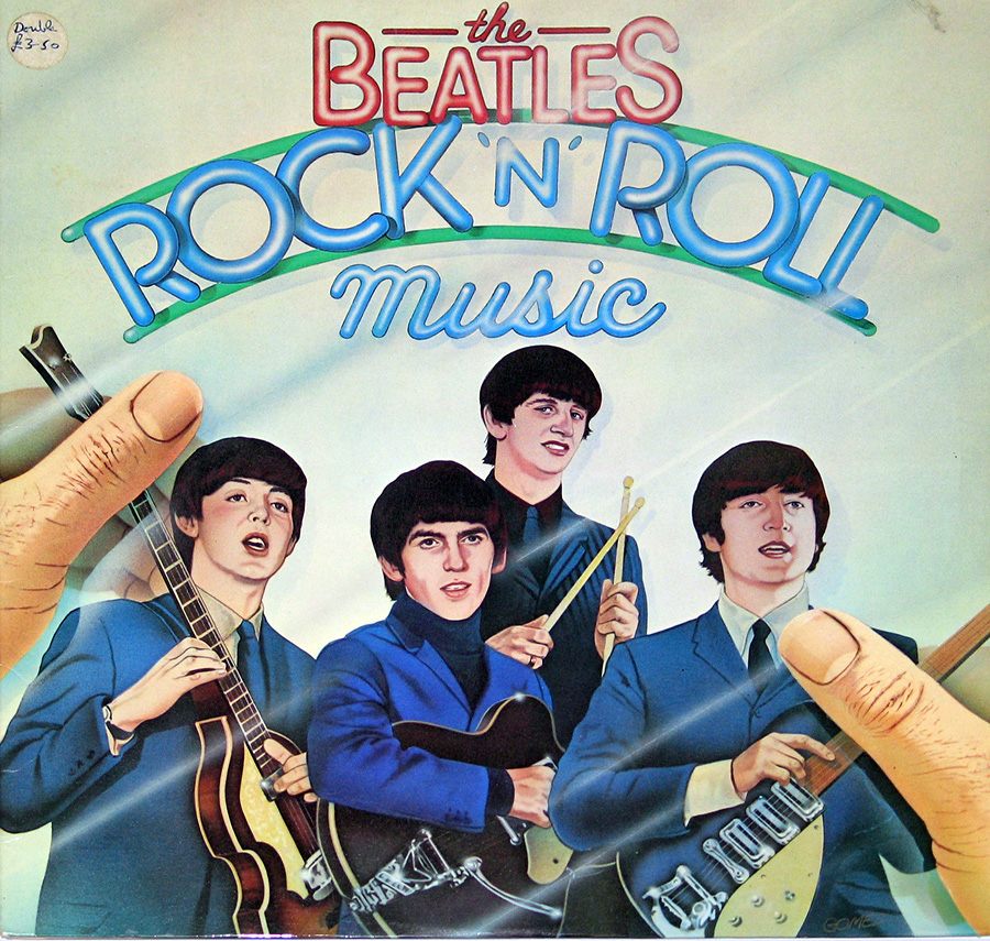 "Front Cover Photo Of BEATLES - Rock and Roll Music UK Release 12"" VINYL LP ALBUM"