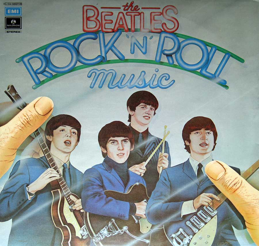 Front Cover Photo Of BEATLES - Rock 'N' Roll Music Italy 2LP Vinyl Album