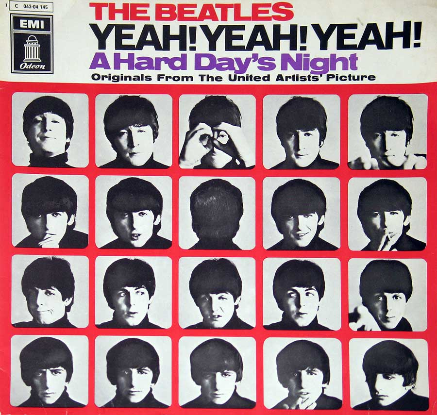 large photo of the album front cover of: Beatles - Yeah! Yeah! Yeah! A Hard Day's Night