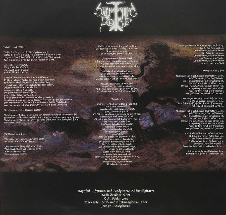 "SURTURS LOHE - Vor Walvaters Thron Limited Edition handnumbered 12"" Vinyl LP Album custom inner sleeve"