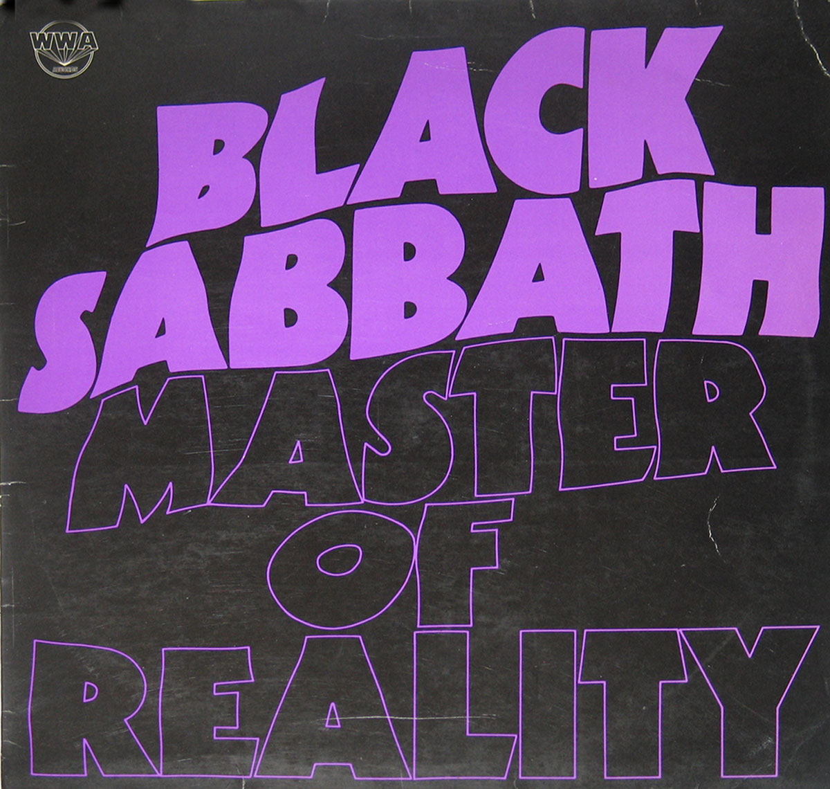 High Resolution Photo BLACK SABBATH - Master of Reality Vinyl Record