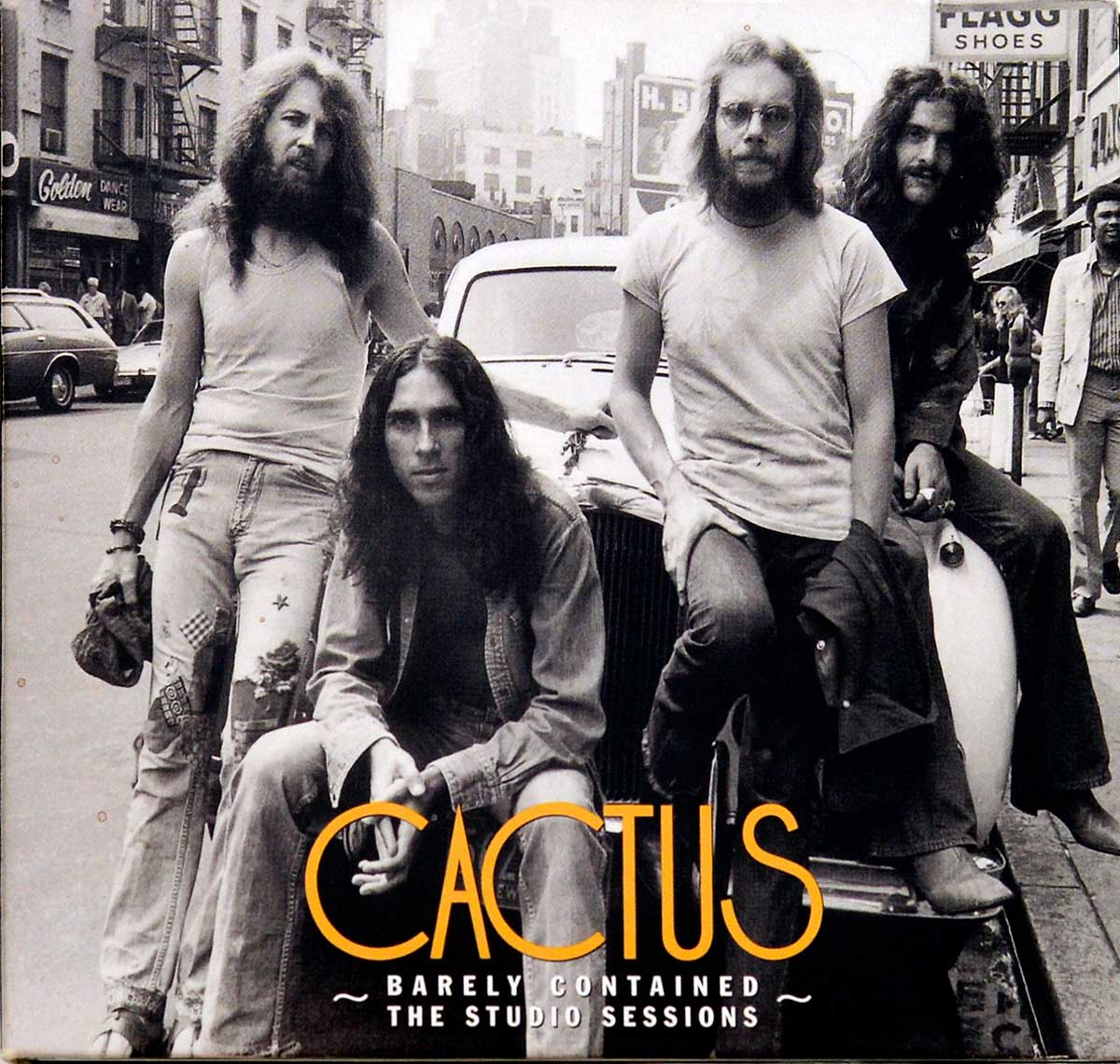 CD Album Front Cover Photo of CACTUS Barely Contained – The Studio Sessions 2CD Limited Edition 2CD