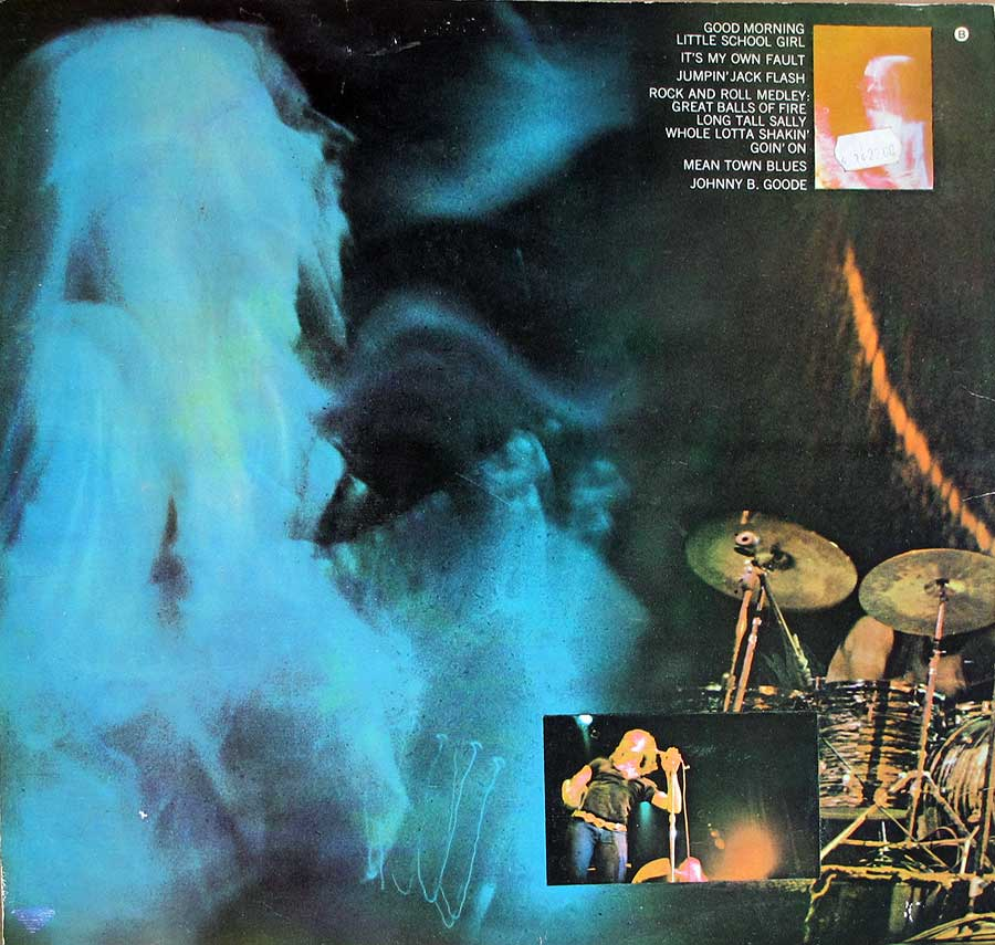 "JOHNNY WINTER - And Live Gatefold Cover 12"" LP VINYL ALBUM  back cover"