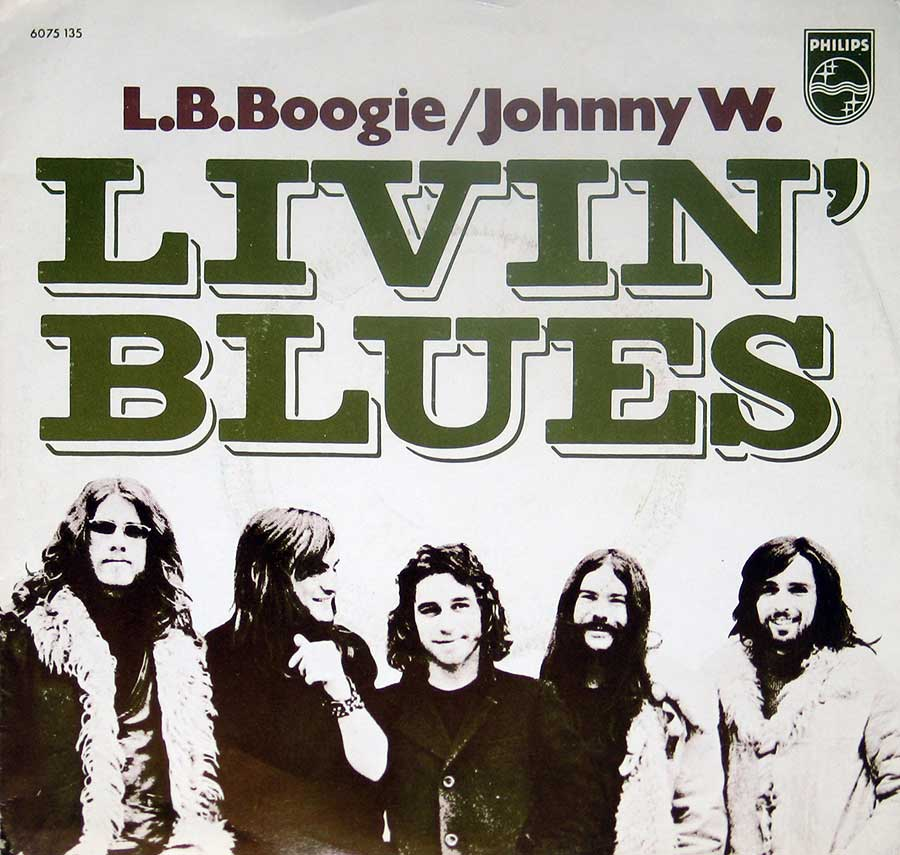 "Front Cover Photo Of LIVIN' BLUES - L.B. Boogie / Johnny W. 7"" Vinyl Single"