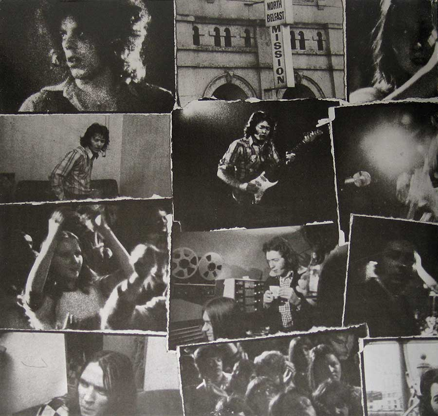 Photo of the left page inside cover RORY GALLAGHER - Irish Tour '74 2LP