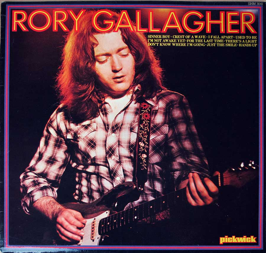 "RORY GALLAGHER S/T Self-Titled PickwicK UK 12"" LP VINYL ALBUM album front cover"