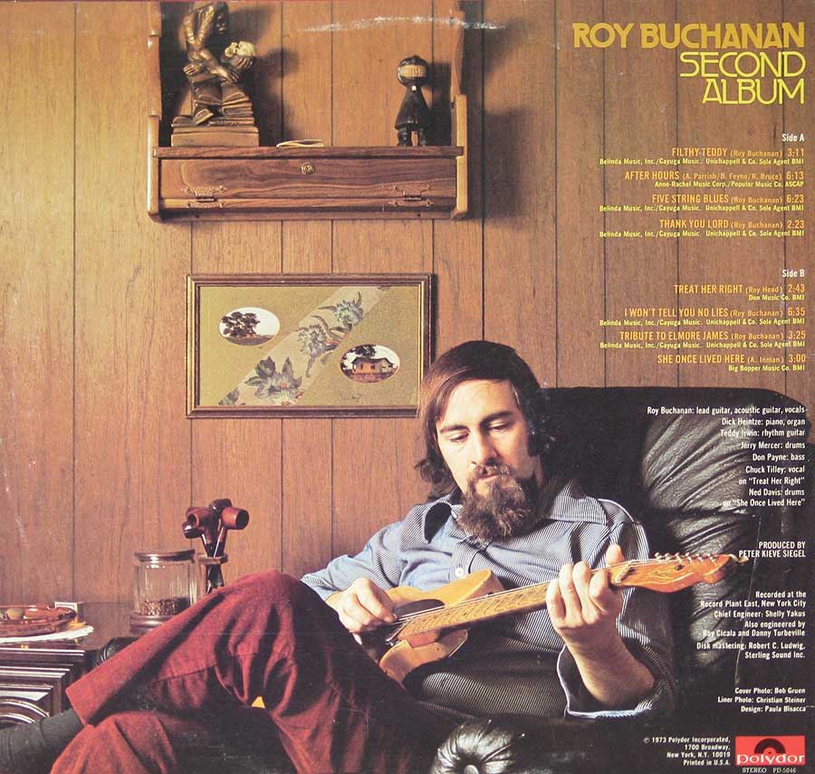"ROY BUCHANAN - Second Album - 12"" VINYL LP ALBUM back cover"