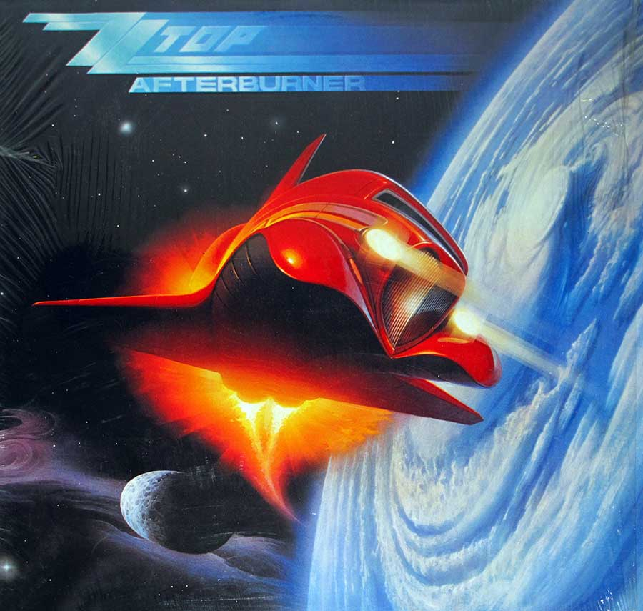 "ZZ TOP - Afterburner - American Blues-rock 12"" VINYL LP ALBUM album front cover"