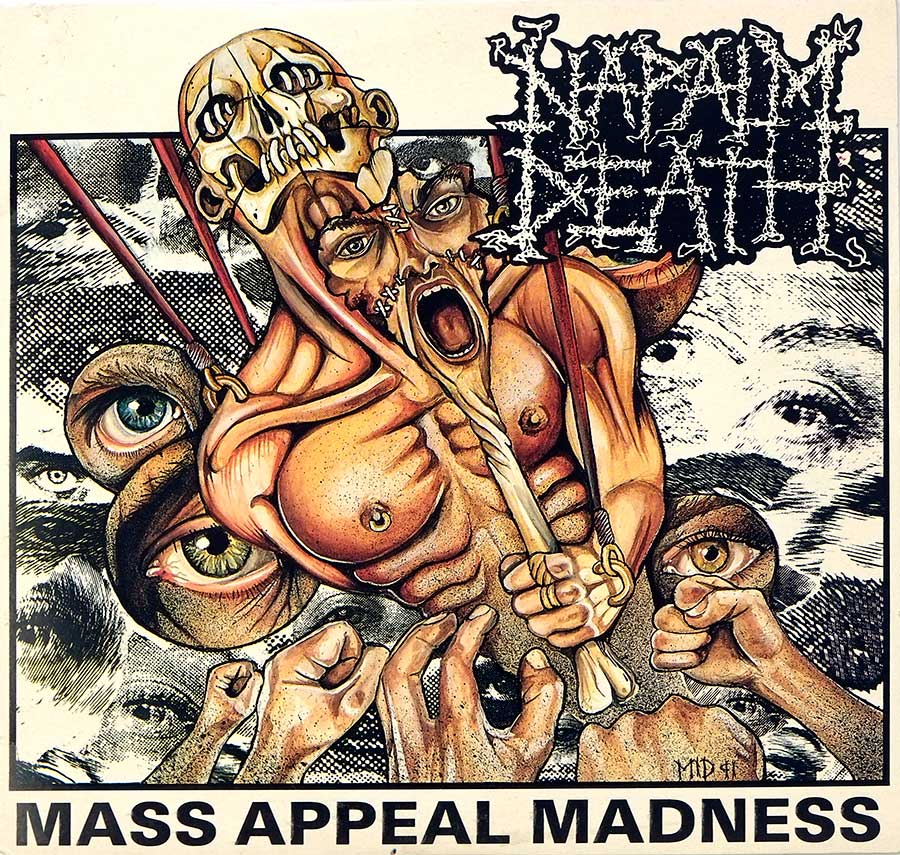 large photo of the album front cover of: napalm death