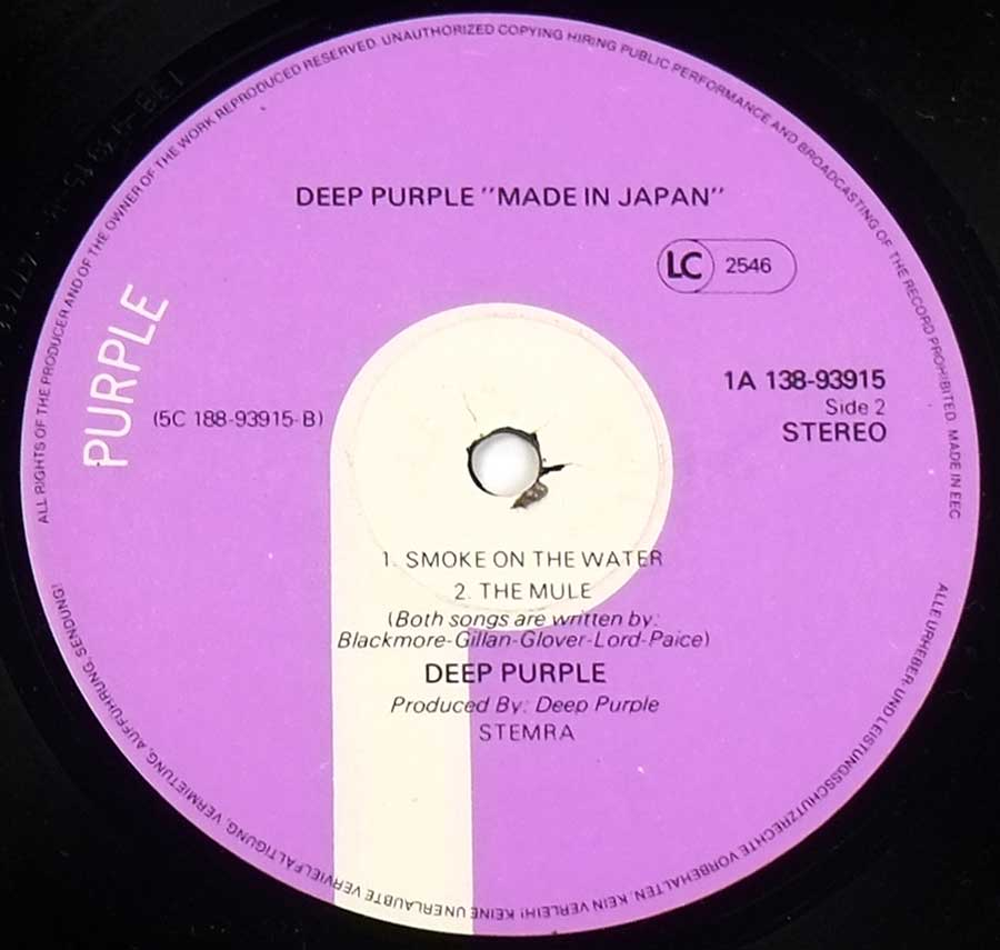"DEEP PURPLE - Made In Japan European Release 2LP 12"" DLP ALBUM VINYL  vinyl lp record"