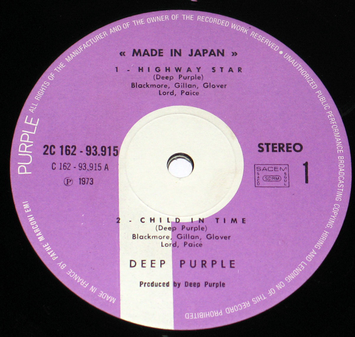 High Resolution # Photo DEEP PURPLE Made in Japan France