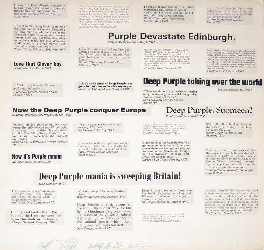 High Resolution Photo deep purple who do we think we are gb