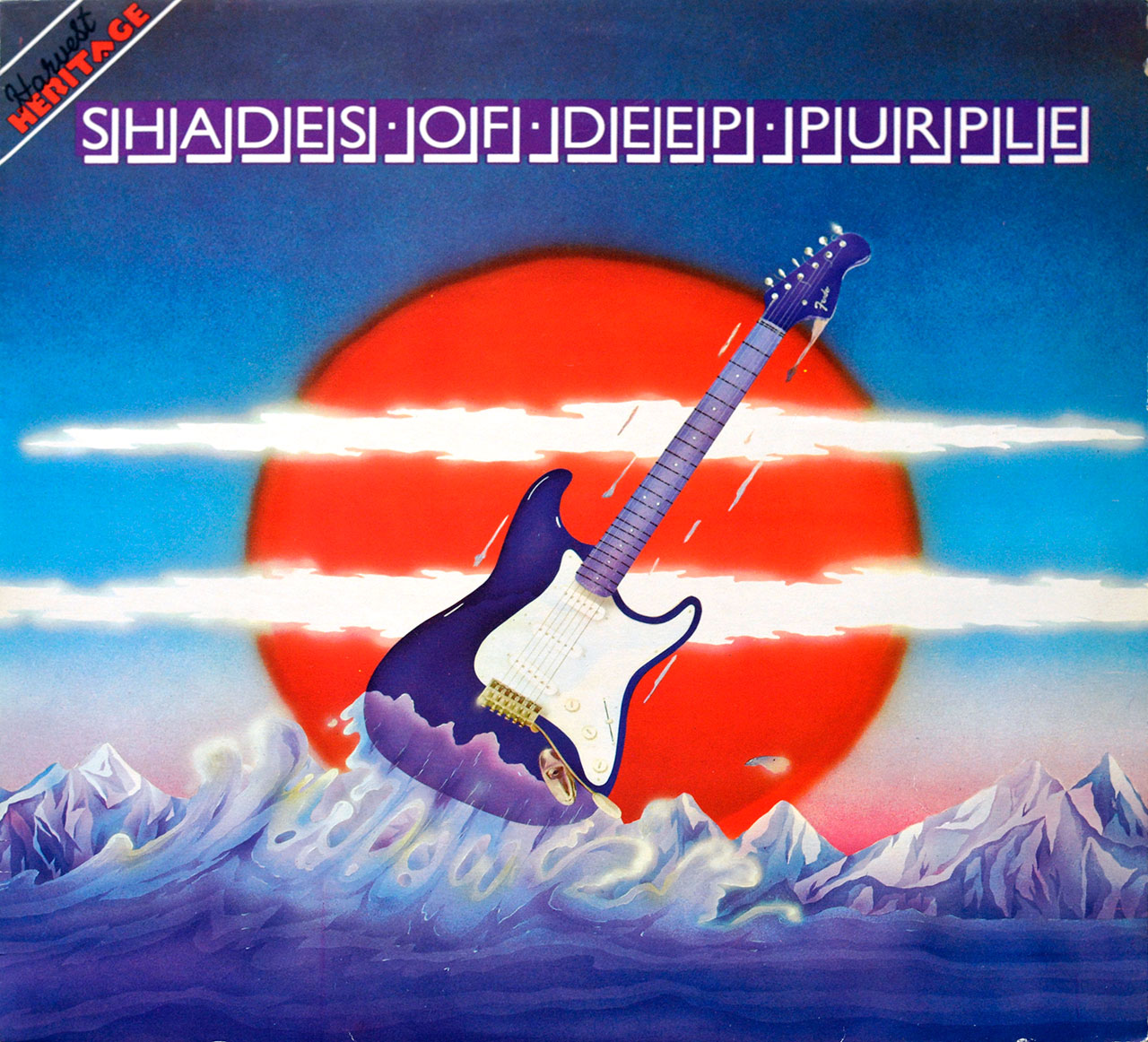 "Album Front Cover Photo of DEEP PURPLE – Shades Of Deep Purple 12"" LP"