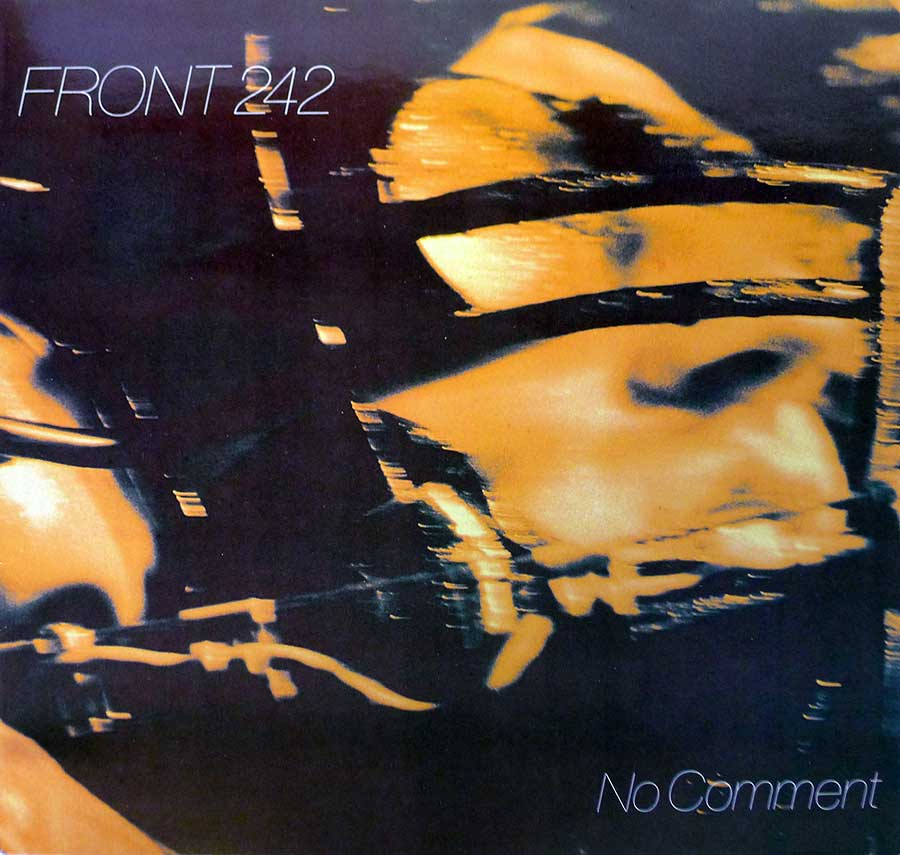 "FRONT 242 - No Comment 12"" LP VINYL Album front cover https://vinyl-records.nl"