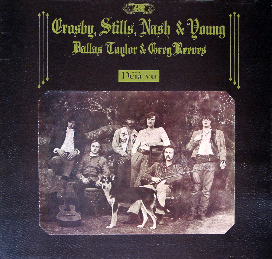 "Front Cover Photo Of CROSBY STILLS NASH YOUNG - Deja Vu UK Gatefold 12"" Vinyl LP Album"
