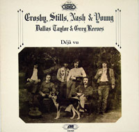 Crosby Stills Nash & Young - Deja Vu White Cover