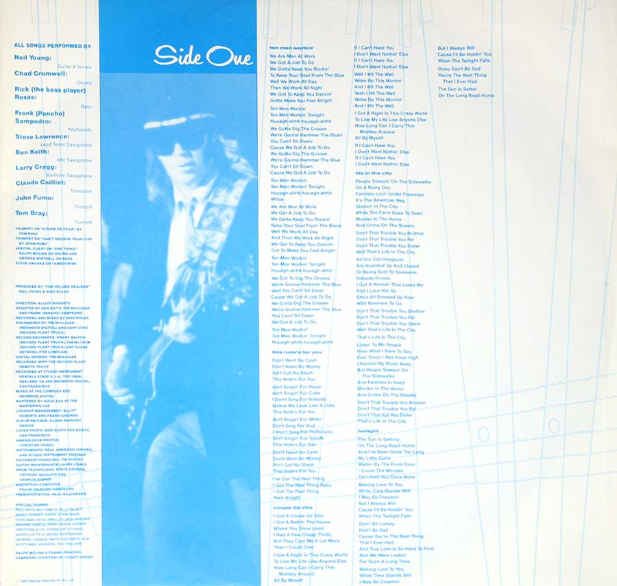 "Album custom inner sleeve ""This Notes For You"""