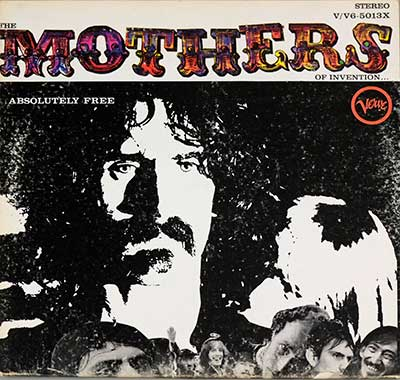 "Thumbnail of THE MOTHERS OF INVENTION - Absolutely Free 12"" Vinyl LP album front cover"