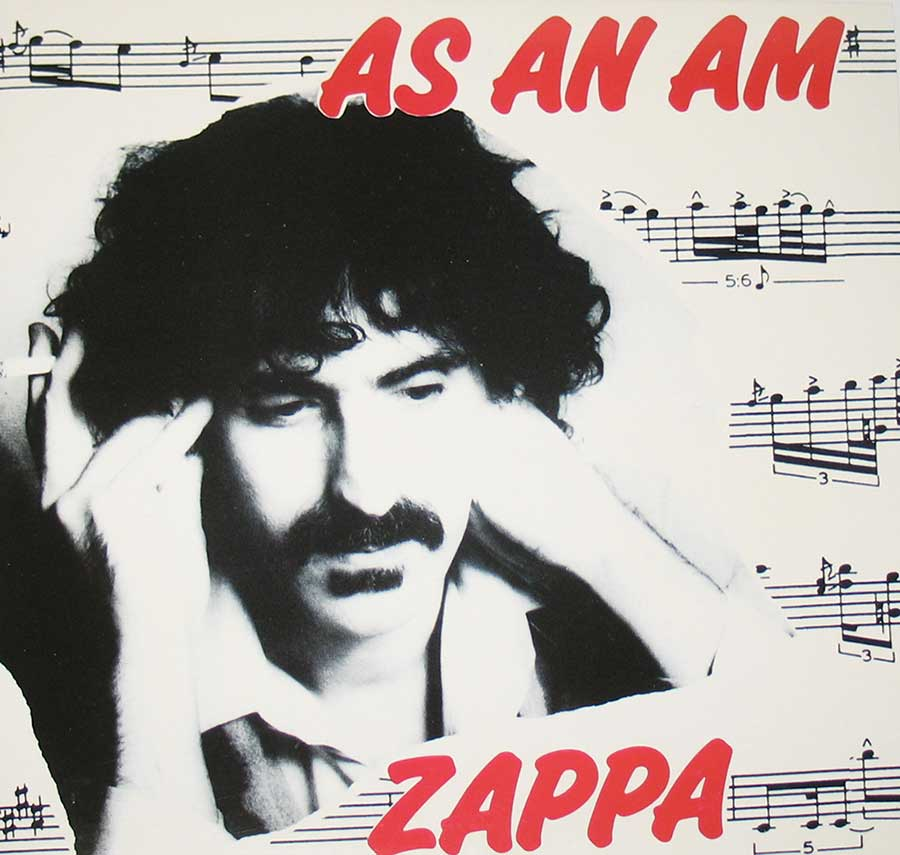 "FRANK ZAPPA - As An Am 12"" VINYL LP ALBUM  front cover https://vinyl-records.nl"