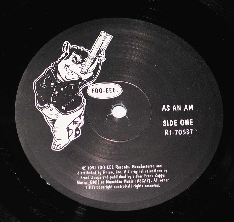 """As An Am"" Record Label Details: FOO-EEE RI-70537"