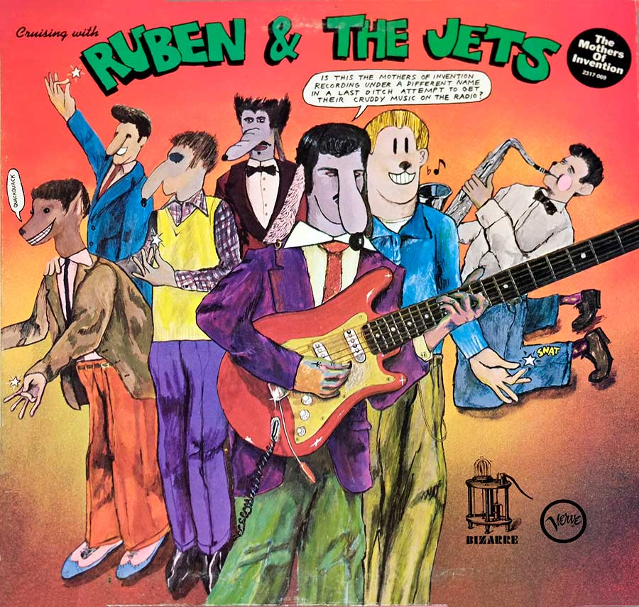Album Front Cover Photo of MOTHERS OF INVENTION - CRUISING WITH RUBEN & THE JETS UK