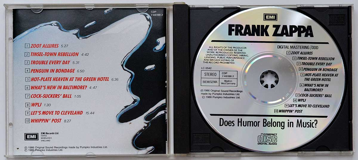 High Resolution Photo #12 FRANK ZAPPA - Does Humor Belong To Music https://vinyl-records.nl