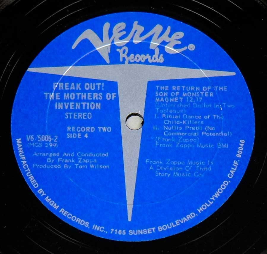 Photo of Side Two of THE MOTHERS OF INVENTION - FREAK OUT!