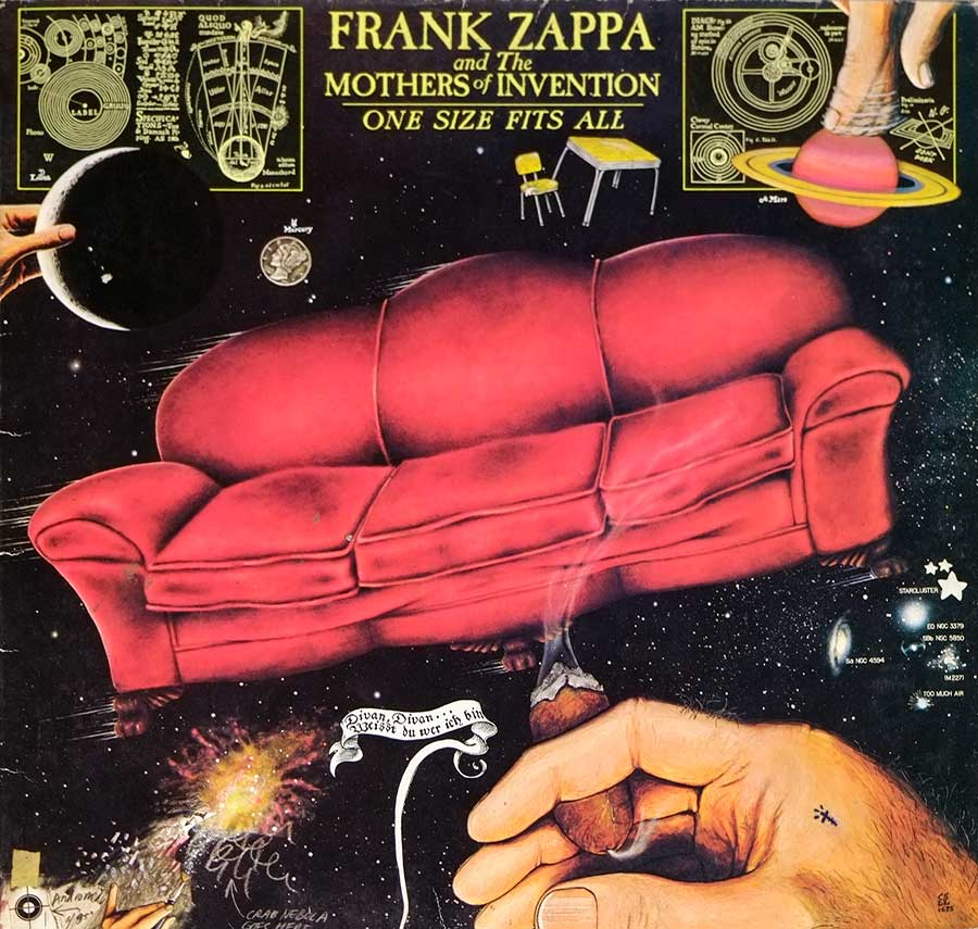 "Front Cover Photo Of FRANK ZAPPA & MOTHERS OF INVENTION - One Size Fits All Gatefold 12"" LP VINYL ALBUM"