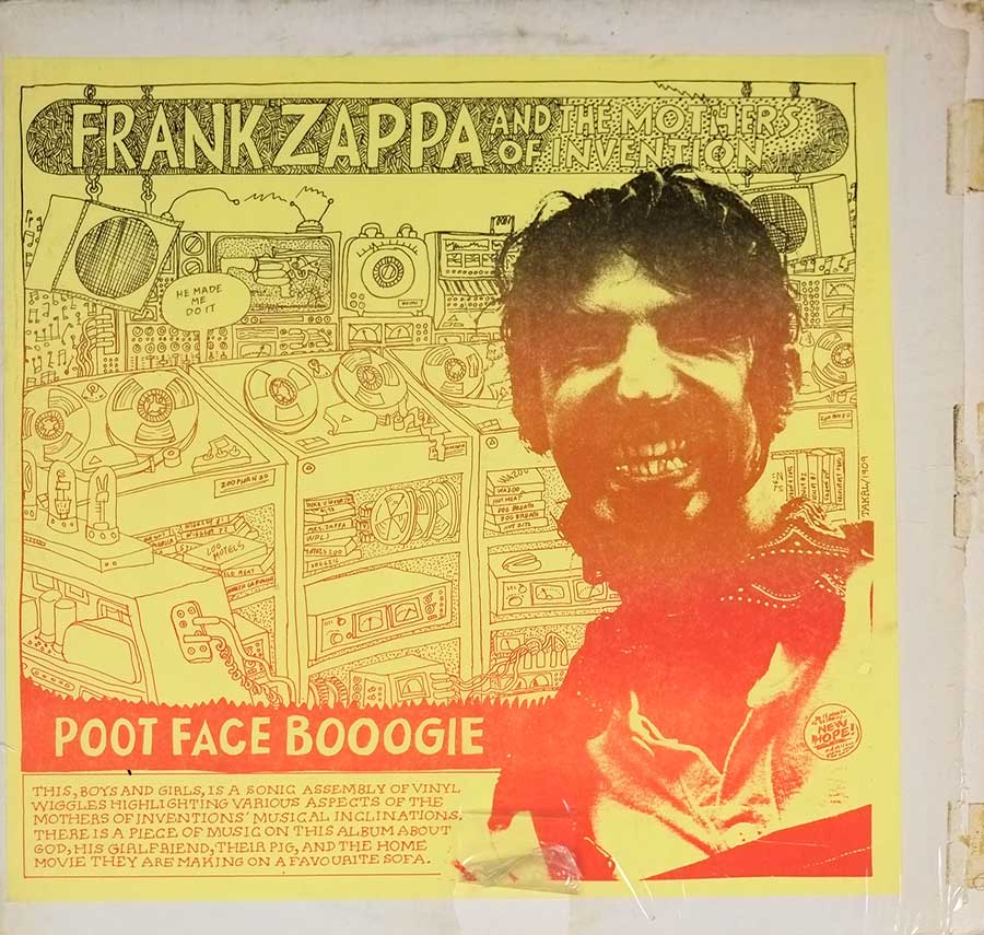 "FRANK ZAPPA & MOTHERS OF INVENTION - Poot Face Booogie 12"" LP VINYL   front cover https://vinyl-records.nl"