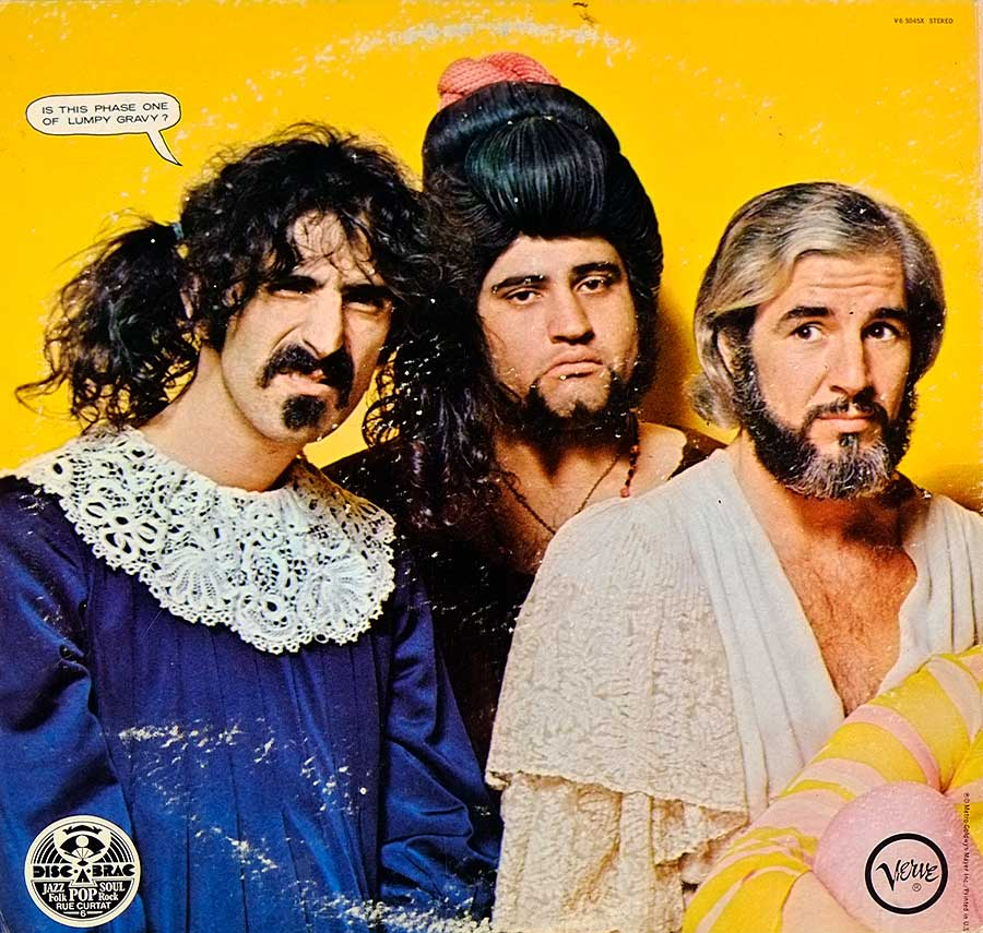 Photo of album back cover MOTHERS OF INVENTION - We're Only In For The Money
